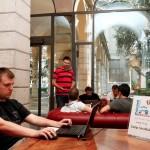 Honza Blizničenko working on Roassal at Camp Smalltalk